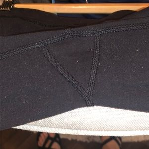 lululemon athletica Pants - Lululemon Black Leggings/Mesh & Lasercut Detail